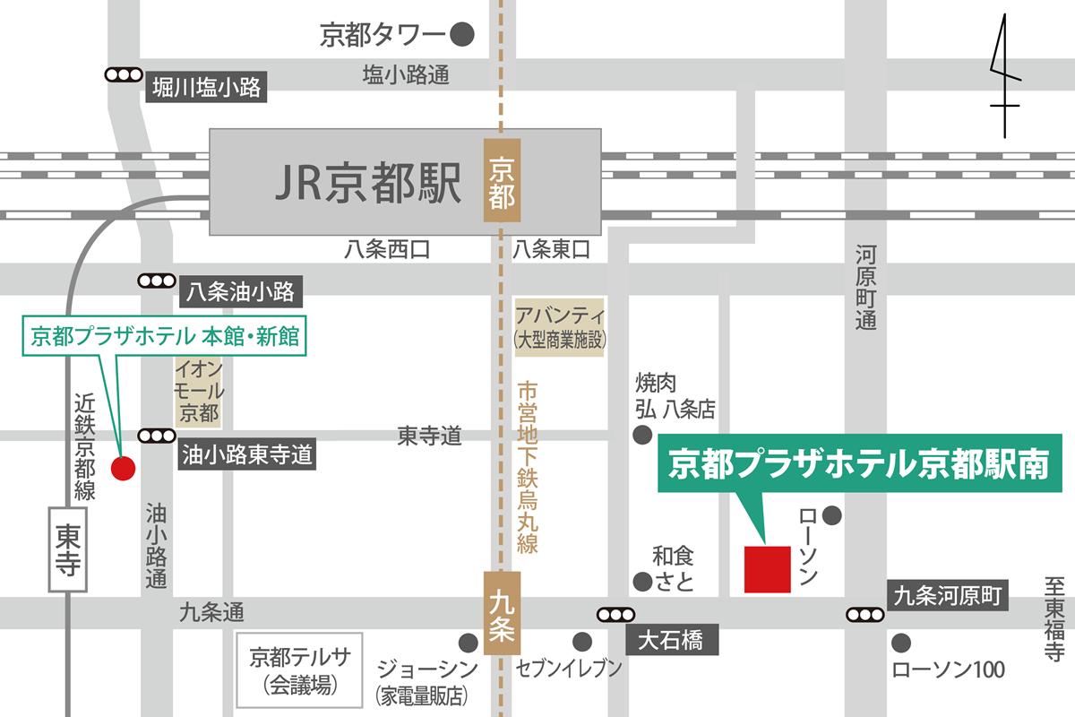 京都駅南Map